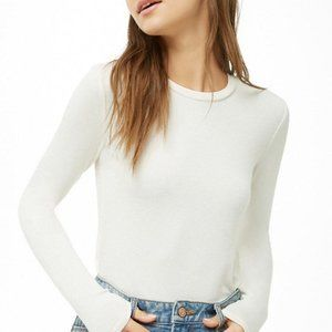 Forever 21 Cream Long Sleeve Top!